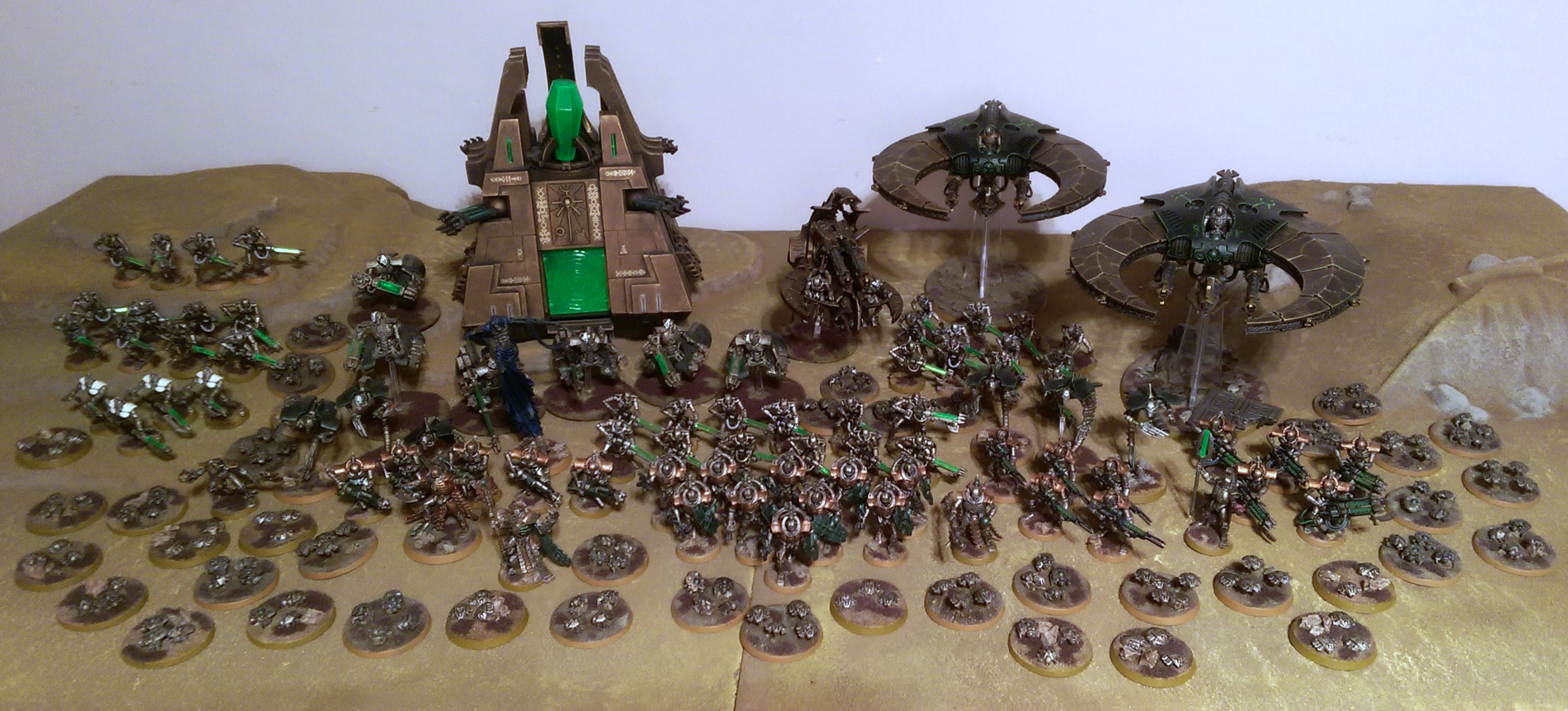 My Completed Warhammer 40,000 Necron Army – Jodrell Plays Games
